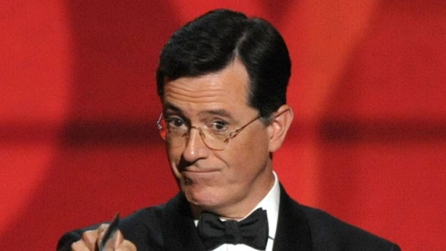 PHOTO:&nbsp;In this Sept. 23, 2012 file photo, Stephen Colbert presents an award onstage at the 64th Primetime Emmy Awards at the Nokia Theatre in Los Angeles.