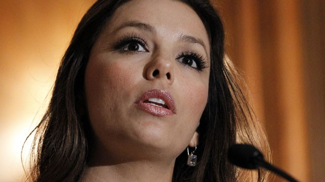 PHOTO:&nbsp;This May 5, 2011 file photo shows actress Eva Longoria speaking at a news conference on Capitol Hill in Washington.