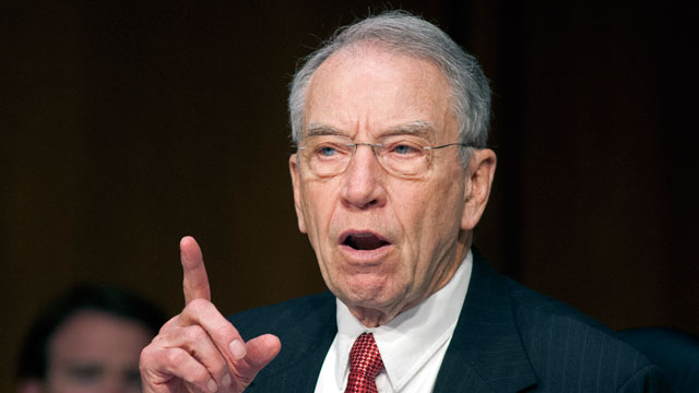 PHOTO: Sen. Chuck Grassley (R-Iowa) filed a whopping 77 amendments to the immigration bill. The Senate Judiciary Committee will begin considering changes on Thursday.
