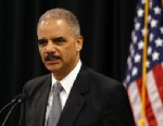 PHOTO: U.S. Attorney General Eric Holder speaks during a news conference in Towson, Md., Wednesday, Oct. 3, 2012, to announce $2.4 million in grants that are intended to assist 13 jurisdictions with intellectual property law enforcement efforts.