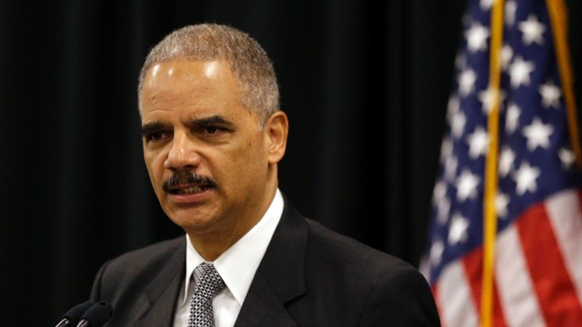 PHOTO:&nbsp;U.S. Attorney General Eric Holder speaks during a news conference in Towson, Md., Wednesday, Oct. 3, 2012, to announce $2.4 million in grants that are intended to assist 13 jurisdictions with intellectual property law enforcement efforts.