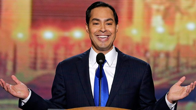 San Antonio Mayor Julian Castro addresses the Democratic National Convention in Charlotte, N.C.
