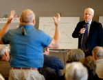 PHOTO: U.S. Sen. John McCain, R-Ariz., listens to a question during a town hall, Tuesday, Feb. 19, 2013, in Sun Lakes, Ariz.