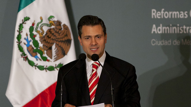 PHOTO: Mexicos President-elect Enrique Peña Nieto delivers a speech during an event in Mexico City, Wednesday, Nov. 14, 2012.