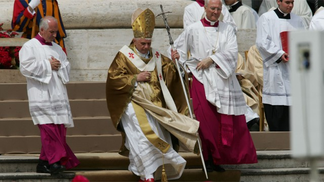 PHOTO:&nbsp;Benedict XVI announced Monday, Feb. 11, 2013, that he would resign on Feb. 28 because he was simply too infirm to carry on.