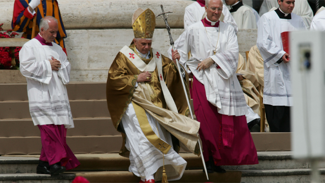 PHOTO: Benedict XVI announced Monday, Feb. 11, 2013, that he would resign on Feb. 28 because he was simply too infirm to carry on.