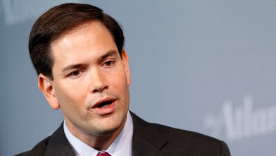 PHOTO: Sen. Marco Rubio, R-Fla., speaks at the Newseum in Washington.