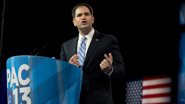 Sen. Marco Rubio, R-Fla., speaks at the 40th annual Conservative Political Action Conference in National Harbor, Md., Thursday, March 14, 2013.