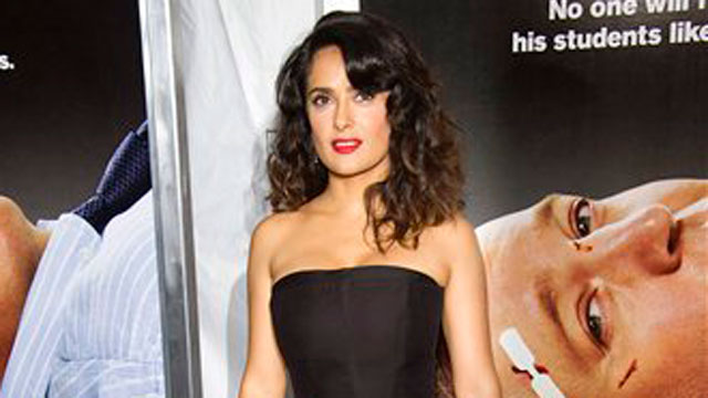 "PHOTO: Salma Hayek attends the ""Here Comes the Boom"" premiere on Tuesday, Oct. 9, 2012 in New York."