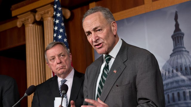 PHOTO:&nbsp;Sen. Charles Schumer, D-N.Y., right, and Sen. Dick Durbin, D-Ill., left, are part of a bipartisan group of senators negotiating an immigration overhaul.