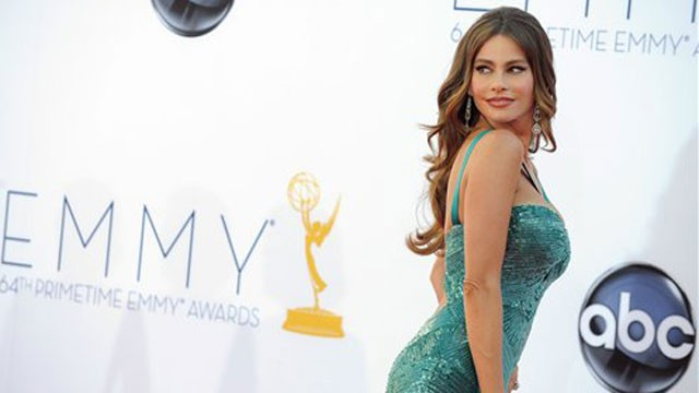 PHOTO: Sofia struts her stuff at the 64th Primetime Emmy Awards this year.