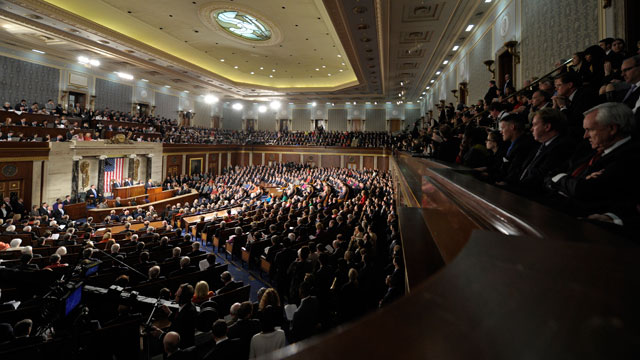 PHOTO: In this Jan. 24, 2012, file photo President Barack Obama delivers his State of the Union address on Capitol Hill in Washington.