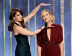PHOTO: This image released by NBC shows co-hosts Tina Fey, left, and Amy Poehler on stage during the 70th Annual Golden Globe Awards held at the Beverly Hilton Hotel on Sunday, Jan. 13, 2013, in Beverly Hills, Calif.