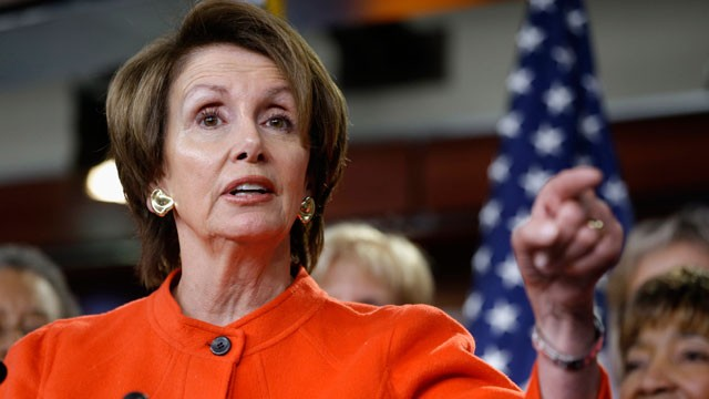 PHOTO: In this Jan. 23, 2013, file photo, House Minority Leader Nancy Pelosi of Calif., holds a news conference on Capitol Hill in Washington, to discuss the reintroduction of the Violence Against Women Act.