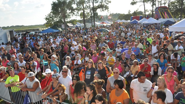 PHOTO: At this year's Viva Osceola, a cultural festival in one of Florida's swing counties, the Romney campaign pushed to speak to the mostly-Latino crowd, said organizer Guillermo Hansen.