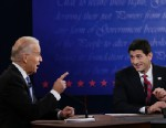 PHOTO: Vice President Joe Biden, left, and Republican vice presidential nominee, Rep. Paul Ryan, of Wisconsin, challenge each other during the vice presidential debate at Centre College, Thursday, Oct. 11, 2012, in Danville, Ky.