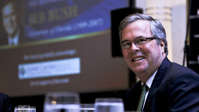 PHOTO: Former Florida Governor Jeb Bush visited the World Affairs Council of Philadelphia on Friday, September 21, 2012 to speak about raising expectations for students.