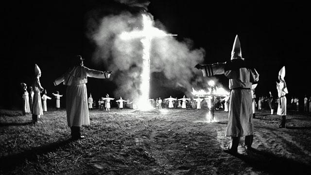 PHOTO:A Ku Klux Klan rally in Maryland, USA, 1986.