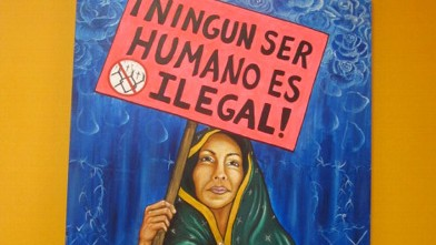 PHOTO: Painting by Los Angeles-based artist Liliflor Ramirez.