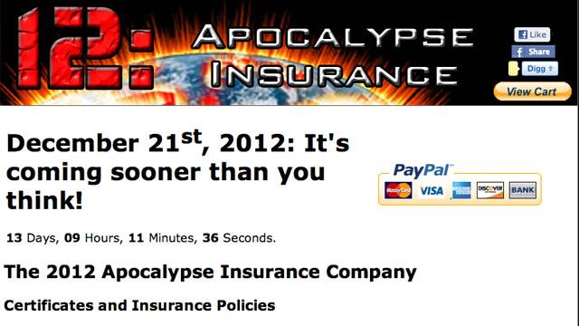 2012: Apocalypse Insurance