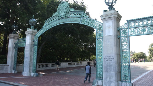 PHOTO:&nbsp;Berkeley's Sather Gate. UC Berkeley unveiled a $1 million scholarship fund -- the largest of its kind -- for undocumented students.