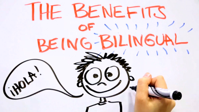 PHOTO: Check out this whiteboard explainer video about the benefits of growing up with two languages.