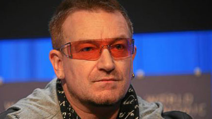PHOTO: Evidently, when someone people think of their ideal pope, they think of U2s Bono. (Or Oprah.) (And Madonna.)