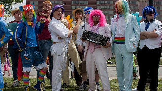 PHOTO: Bronies dressed up for Toronto's Anime North convention