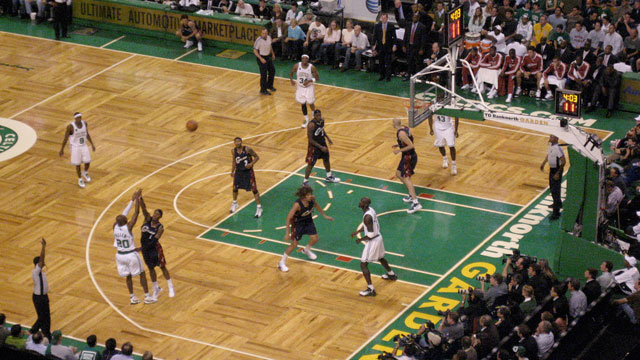 PHOTO: Celtics play a home game in Boston.