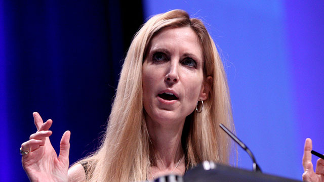PHOTO: Conservative commentator Ann Coulter speaks at a Conservative Political Action Committee conference in 2011 in Washington, D.C.