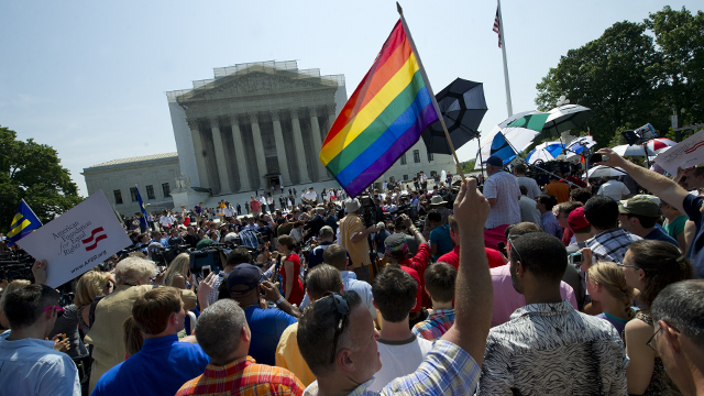 PHOTO: Until Wednesday, when the Defense of Marriage Act was overruled by the Supreme Court, only marriages between a man and a woman were recognized under immigration law.