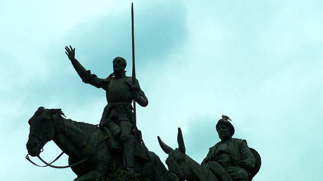 PHOTO: Statues of Don Quixote and Sancho Panza in Brussels, Belgium.