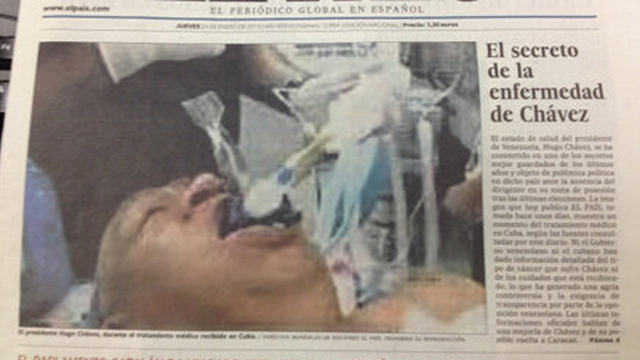 PHOTO:  El Pais front page on January 24 2013, edition which had to be removed from newsstands.