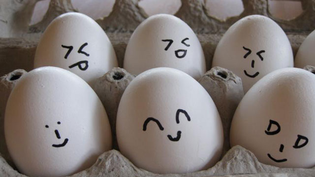 PHOTO: Eggcellent use of emoticons.