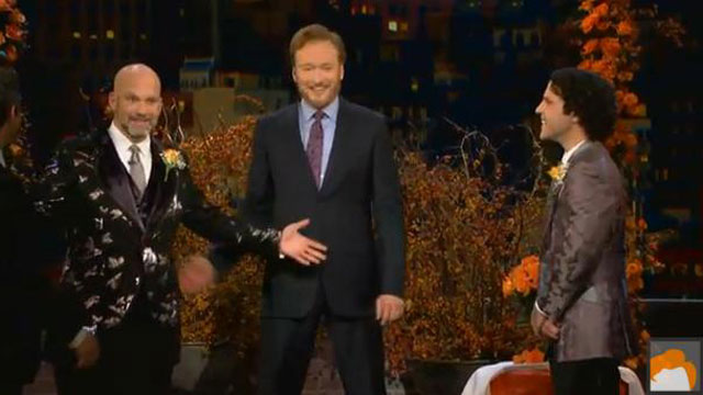 PHOTO: Conan O'Brien officiates a televised gay wedding
