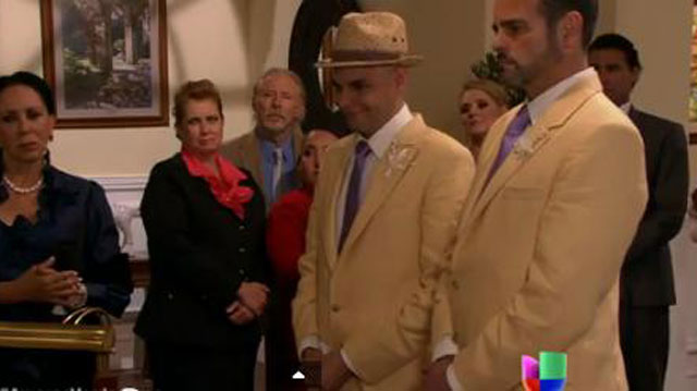 PHOTO:Univision's first same-sex wedding (feat. a pug in a suit)