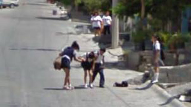 PHOTO: A girl takes a tumble in Mexico