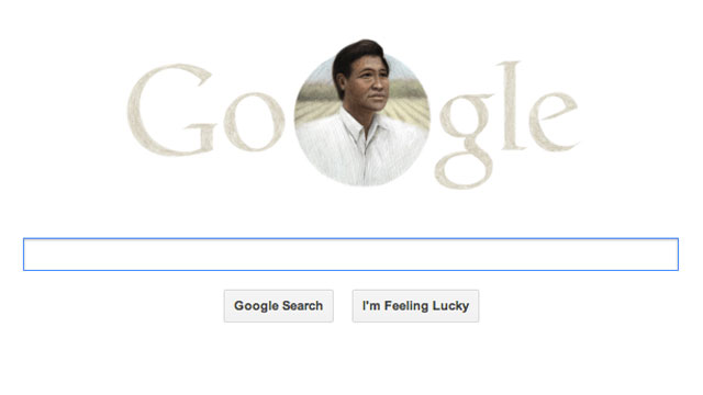 PHOTO: A Google Doodle honors Cesar Chavez on his birthday, which coincides with Easter Sunday this year.
