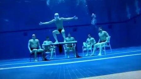 PHOTO:&nbsp;You can do it underwater, you can do it in the air. You can do the Harlem Shake, do it, do it anywhere.