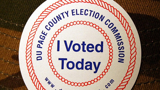 PHOTO: Many Americans don 'I Voted' stickers on election day, distributed at polling locations.