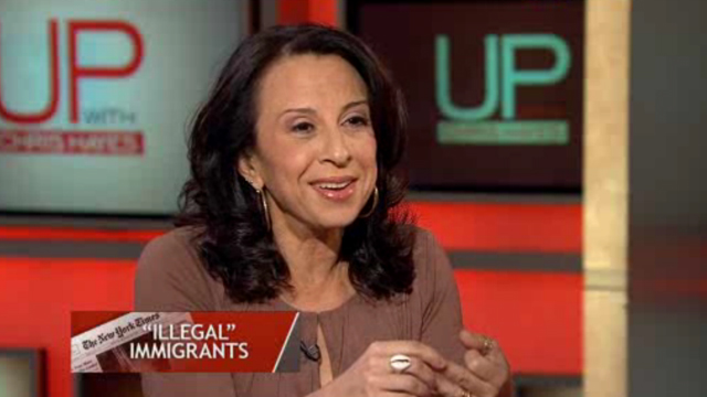 "PHOTO: Latina journalist Maria Hinojosa urged media companies to drop the term ""illegal"" immigrant."