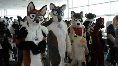 PHOTO:Furries hanging out at Anthrocon.