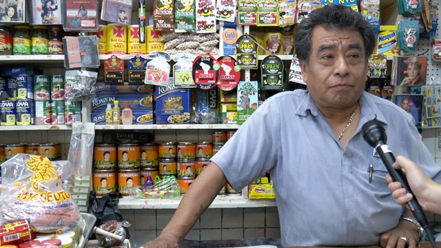 PHOTO:&nbsp;Francisco Garcia, owner of Mexico Lindo Grocery, says Bloomberg's sugar ban will put a strain on local store owners.