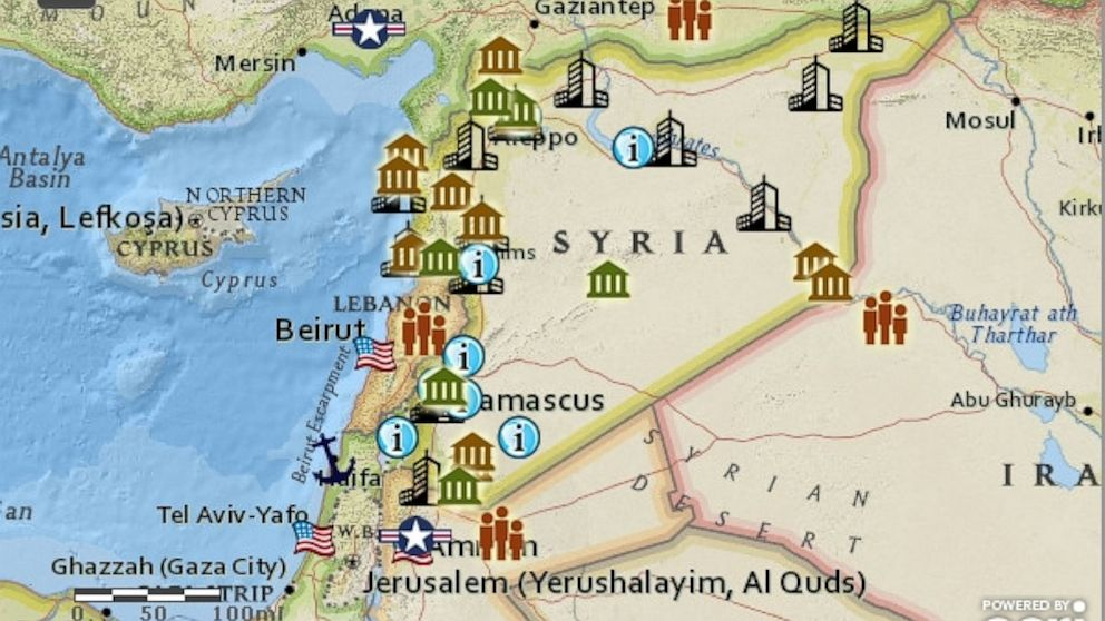 PHOTO: Detailed map that provides more information about the Syrian Refugee Camps in the region.