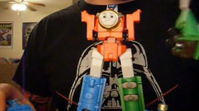 "PHOTO:""Tomas"" the ""transformer."""