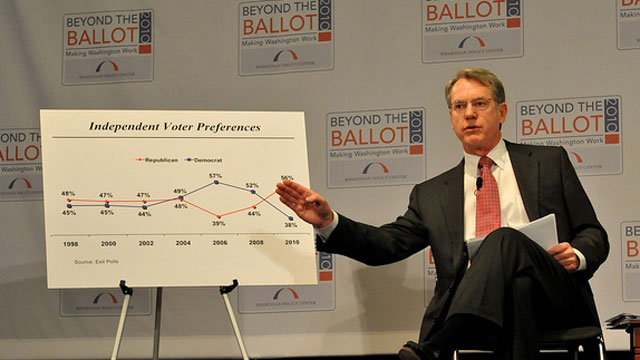 PHOTO: Conservative political consultant Whit Ayres speaks at a policy conference in 2010.