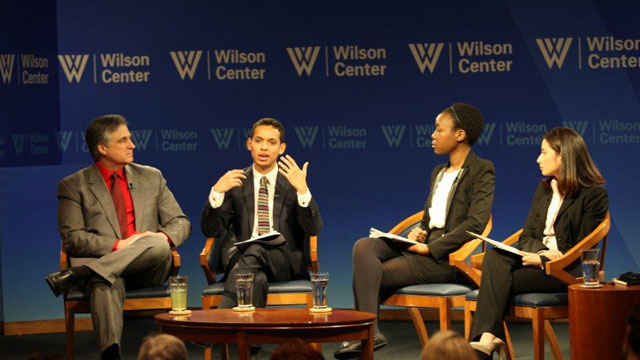 PHOTO:Georgetown students talk about life as undocumented immigrants at the Wilson Center in Washington, DC, on Feb. 21, 2013.