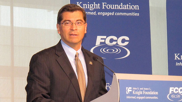 PHOTO: U.S. Rep Xavier Becerra (D-California) speaks at Americas Digital Inclusion Summit at The Newseum in Washington, D.C. on March 9, 2010.