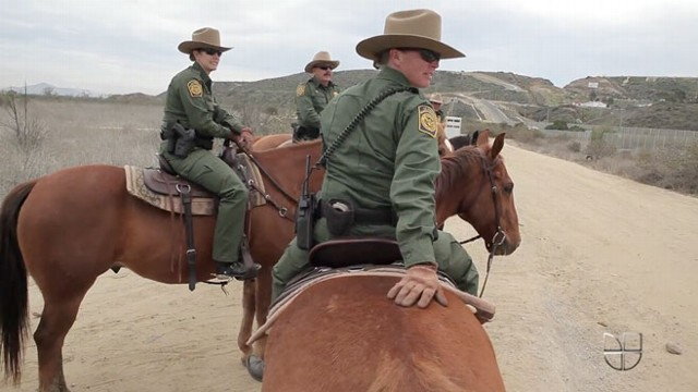 Border patrol agents from San Diego Imperial Beach unit use horses to access remote, rugged areas.