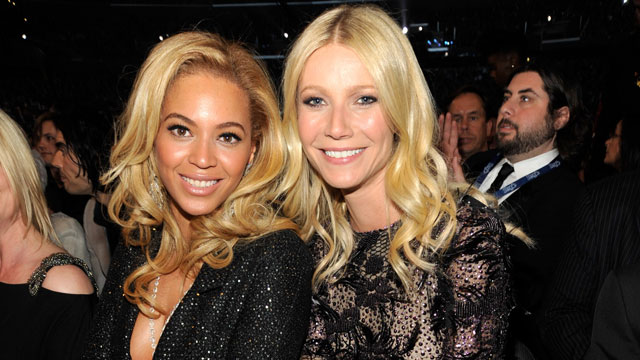 PHOTO: Beyonce and Gwyneth Paltrow at the 53rd Annual GRAMMY Awards held at Staples Center on February 13, 2011